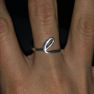 """James Avery """"L"""" Initial Ring"""